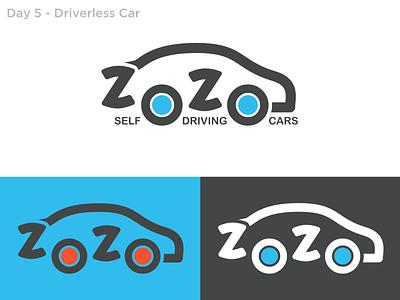 #5 - Driverless Car car logo car logochallenge dailylogo dailylogochallenge branding vector logo