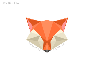 Day 16 - Fox Logo geometric art geometric dailylogo 16 dailylogo fox illustration fox logo fox icon illustration dailylogochallenge logo vector design
