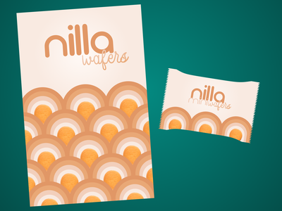 Dribbble Warmup - Snack Package Redesign cookies cookie nilla wafers redesign 70sdesign 70s weekly warm-up weeklywarmup branding logo vector design