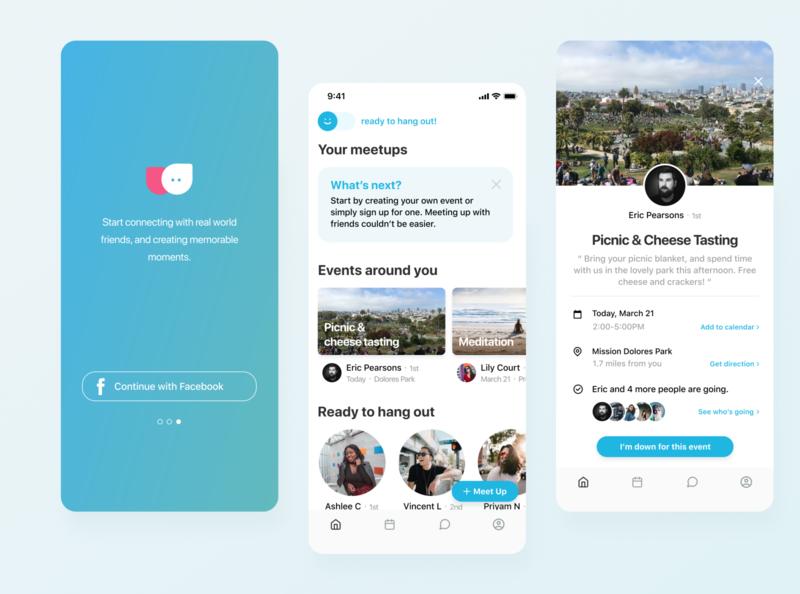 Social Meetup App Concept