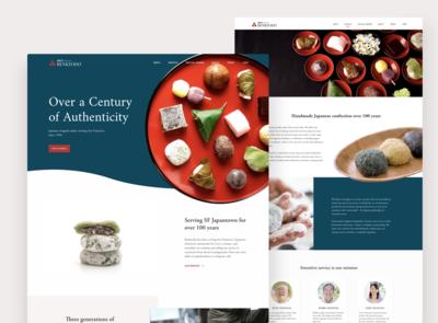 Mochi Shop Landing Page Concept