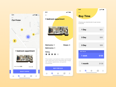 Flat Finder ux vector mobile app daily ui finder app ui design