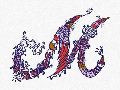 First Shot m letter illustration