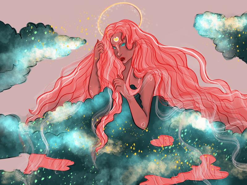 Night sky colors art illustration procreate
