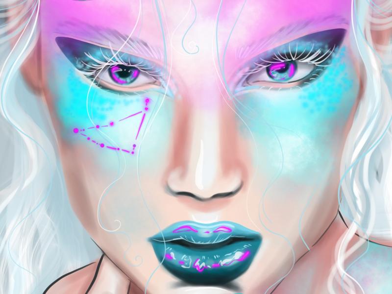 Goddess ipad procreate illustration goddess magic horoscop digitalart