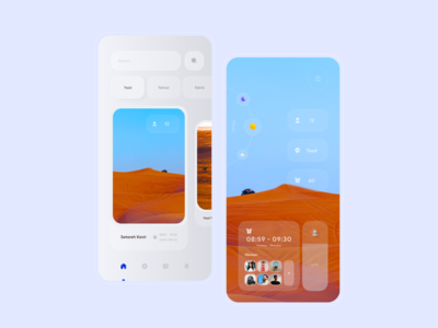 Tourist Apllication Consept Design clean minimal ui minimal ui trend trend uidesign 3d art uiux ux concept 3d trip tourist tourism illustration interface mobile ui design app