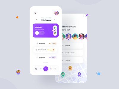 Anti-depressant Concept  🤕 dailyui task manager task list todolist todoist todo light voice video call map meeting app zingr task management depth depression application 3d design mobile ui app