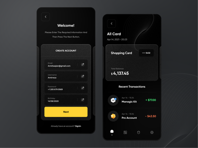 Finance - mobile banking app 💸 fintech wallet app mobile app mobile ui mobile design finace fiances financial banking financial app bank app banking app wallet bank app ui design application app design mobile