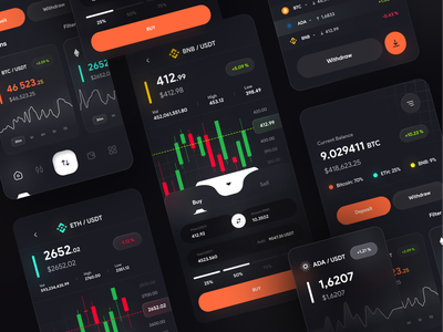 Crypto Currency Wallet | Part 2 💰 exchange swap wallet bitcoin btc finance design ui uikit clean blockchain nft trade dark tokens trading app crypto wallet crypto card