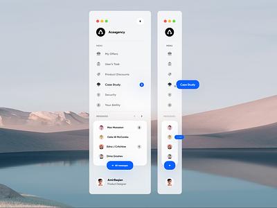 Sidebar Navigation - Light version nav bar navbar ui sidebar navigation navigation glass dark light nav icon sidebar menu concept windows desktop website