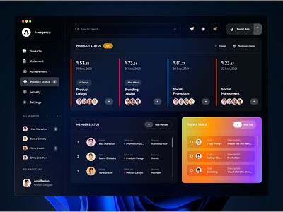Project Managment Dashboard 🔥 chat task uiux dashboard ui website project project managment managing dashboard web dark ui