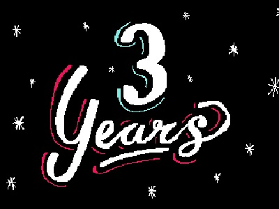 3 Years - Pixel Letters by Michelle Sherrina on Dribbble