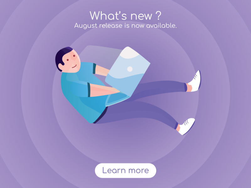 New release available purple ui new release notes web colors illustration design