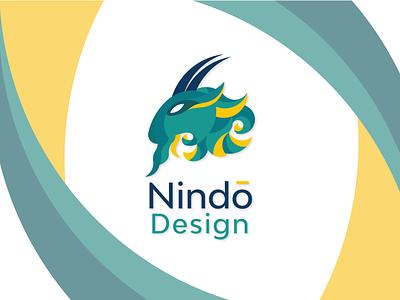 Nindo Design Logo totem animal golden ratio zodiac capricorn colors web branding vector logo illustration ui design goldenratio