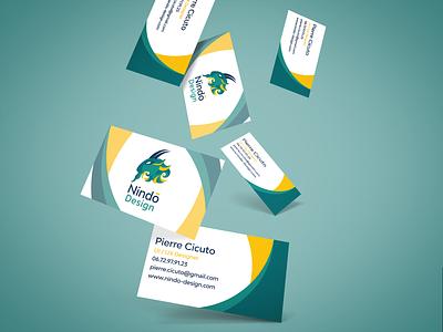 Nindo Design business cards web vector branding colors illustration ui design logo golden ratio card business card business businesscard