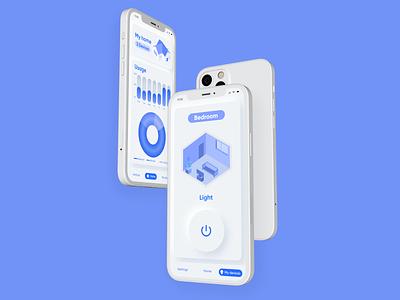 Smart Home - Domotic mobile app concept neomorfism neomorphism neomorphic minimalist smarthome smart home domotic ux mobile branding interface ui design