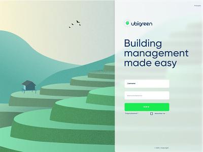 Login / Landing page idea glassmorphism ecology green login landing page landingpage web colors illustration ui design