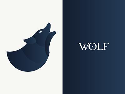 Wolf illustration typography wolves gradient night dark golden ratio geometry wolf illustration logo design animal