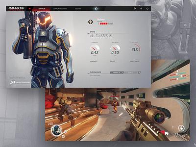 Ballistic Overkill UI + HUD ux user interface gui shooter fps games hud ui