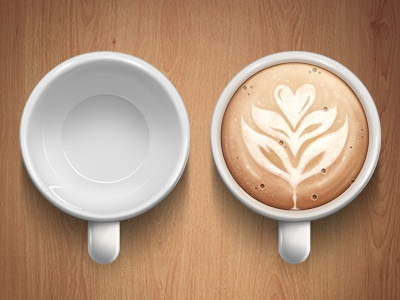 Cappuccino cup illustration icon cup coffee cappuccino wood photoshop reflex