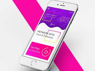 OURMUZE Music Agency design ui ux web-interface mobile app my cart kit gui forgot ux design sketch app sketch