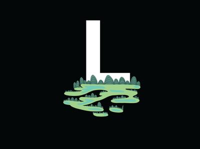 Environment Illustration Letter L