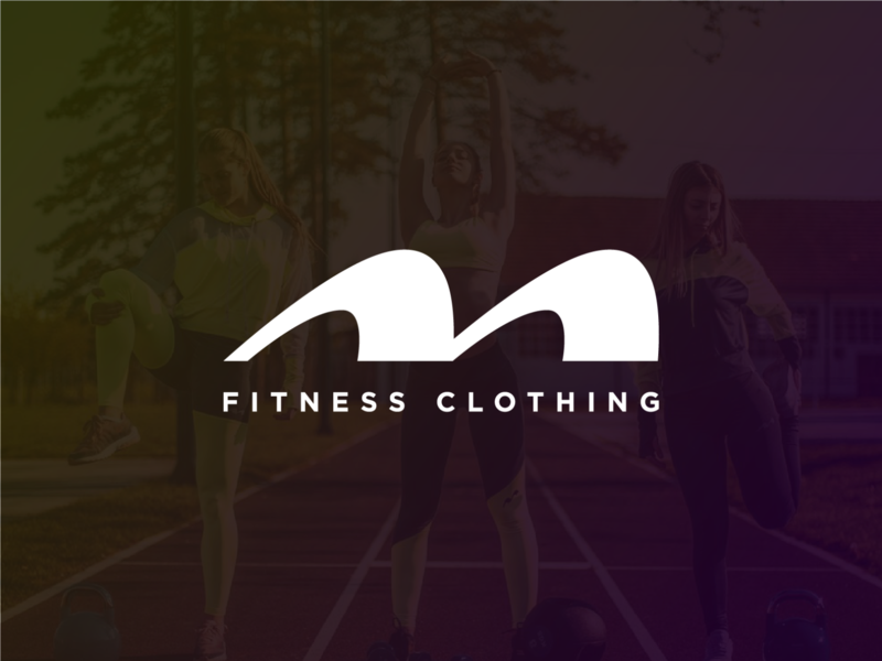 M Fitness Clothing Logo logodesign icon serbia apparel cloting fashion symbol logotype logo workout running training sport fitness