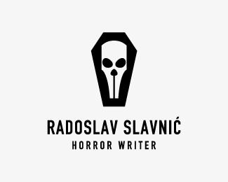 Radoslav Slavnic, Horror Writer logo horror writter book skull pen radoslav slavnic
