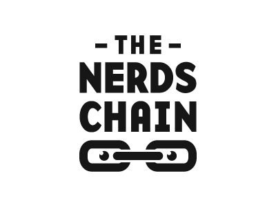 The Nerds Chain nerd nerds chain unity connected connection logo