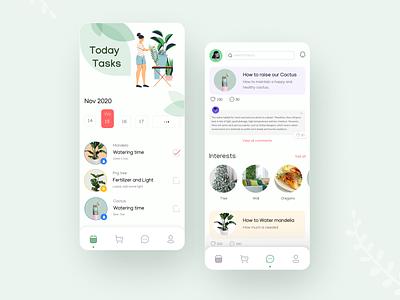 Plant Care App Concept application concept plants plant
