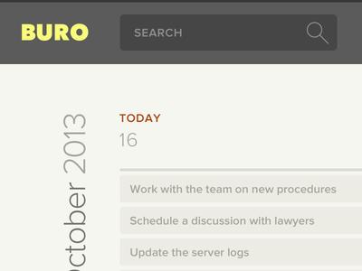 Buro calendar