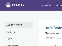 Clarity Screenshot
