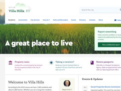City website redesign