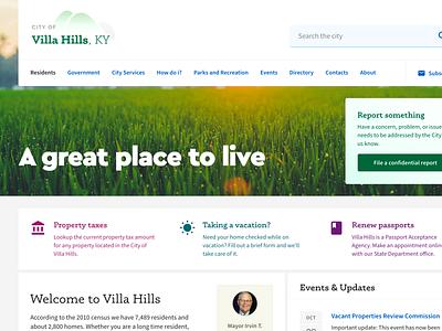 City website redesign ui redesign government municipal civic city