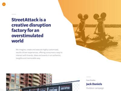 Agency website redesign for StreetAttack