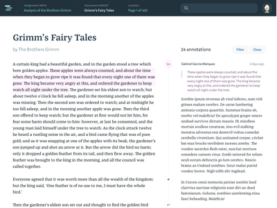 Document + annotation split view highlight document comments commenting ui annotation