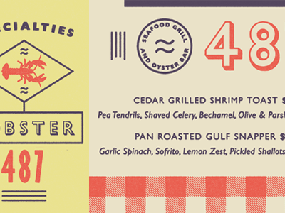 Gill Sans Specimen fonts.com gill sans seafood textured type picnic