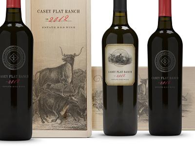 Estate Red wine packaging wine label