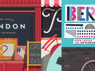 Herb Lester + Instagram City Guides herb lester instagram illustration city guides london paris berlin
