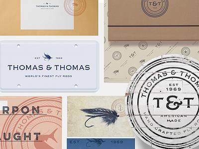 Thomas & Thomas brand identity fly fishing fly rods rebrand brand identity branding