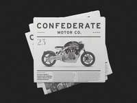 Confederate Motor Co. Newspaper
