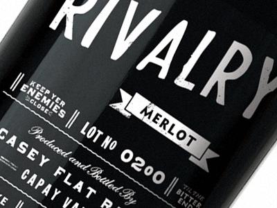 Rivalry Bottle wine packaging bottle enemies