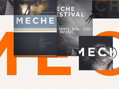 Meche Festival festival branding short film new media orange