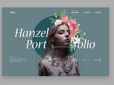 Portfolio Page ui web design website portfolio page