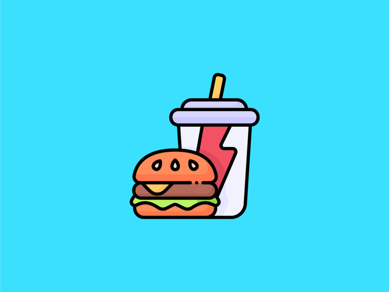 Fast Food Icon logo iconography iconset icons icon eat junkfood burger logo burger hamburger icon hamburger food lunch fastfood