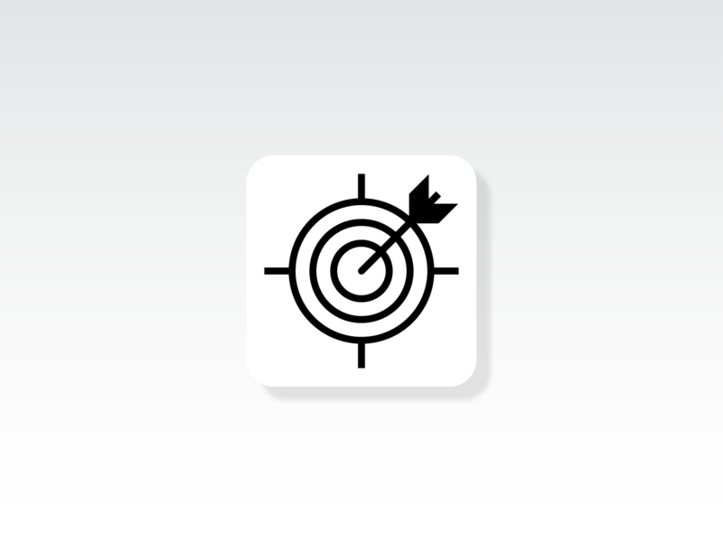 Target Icon ux ui icons iconographic iconsets iconography icon set icon design business svg icons icon iconset goal arrows arrow objective achievement target