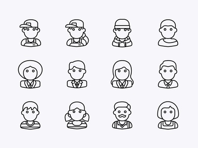 Avatars user interface design user interface user person people icons people logo people avatardesign avatar design avatar icons avatars avatar icon set icon design iconography icons icon