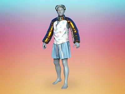 JopiterStudio Colab 1/5 3d artist zbrush zbrush pixlogic maya marvellous renders rendering clothes cloth design render 3d art 3d