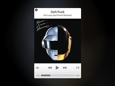 Music player player music app window blur controls