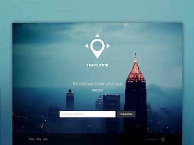 Travelator Landing Page landing page travelator yandex design web ui subscribe contest sketch blur